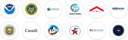 Data sources including NOAA, World Bank, CMHC, Government of Canada, Bureau of Labor Statistics, and Data.gov